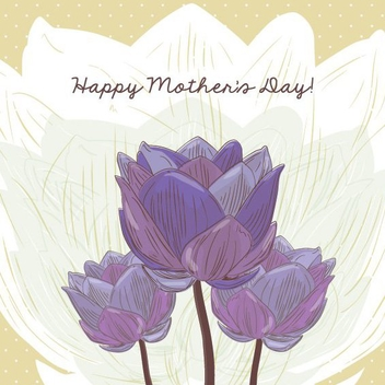 Mother's Day Card - vector #205809 gratis