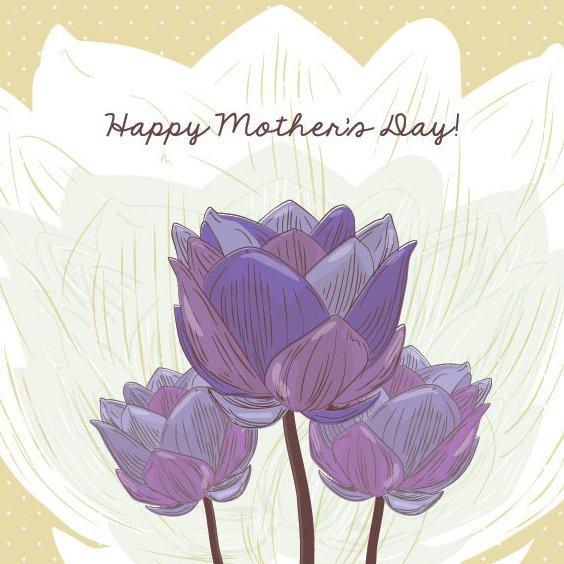 carte de fête des mères - vector gratuit #205809