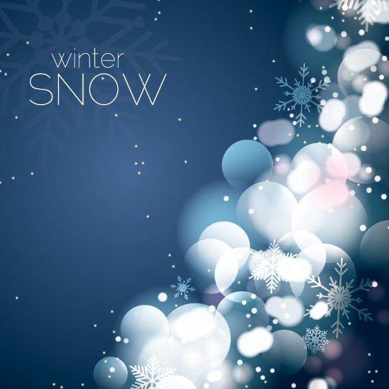 nieve de invierno - vector #205979 gratis