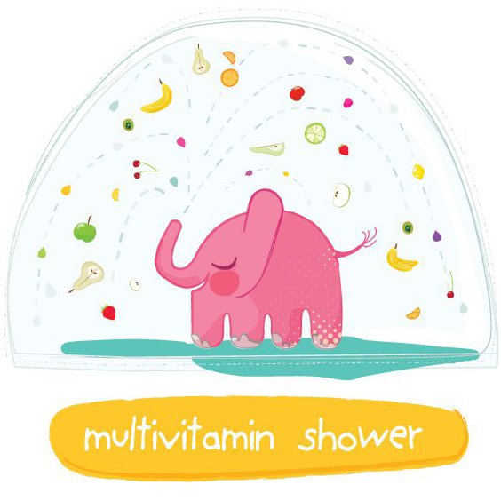 Multivitamin Shower - vector #206039 gratis
