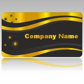 Golden Business Card - vector gratuit #206129
