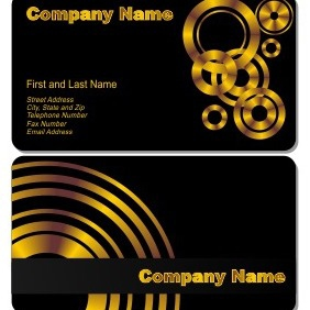 Black Business Card - vector gratuit #206219