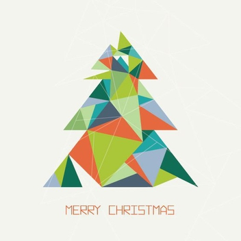 Triangular Christmas Tree - vector gratuit #206249