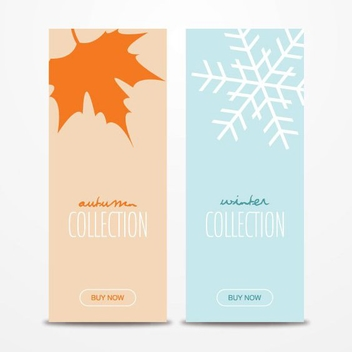 Autumn Winter Banners - vector gratuit #206259