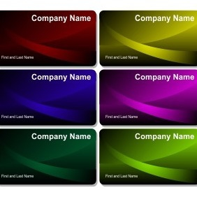 Beautiful Business Cards - vector #206269 gratis