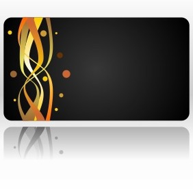 Business Card With Abstract Fire - vector gratuit #206299