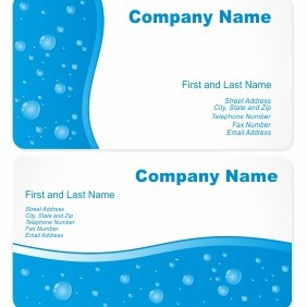 Business Cards With Water Drops - vector gratuit #206309