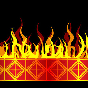 Burning Vector Banner - Free vector #206389