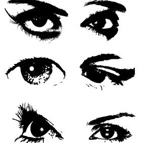 Eyes Vector Set - Free vector #206399