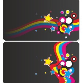 Dark Business Card Set - vector #206489 gratis