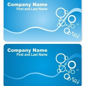 Sea Business Card Set - Kostenloses vector #206519