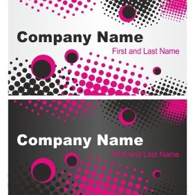 Grunge Business Card Set - Free vector #206549