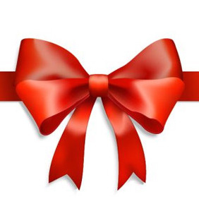 Huge Red Ribbon - vector gratuit #206589
