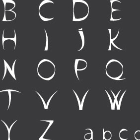 Black Sharp Alphabet Vector - Free vector #206689
