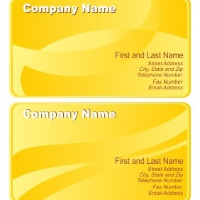 Yellow Business Cards - vector gratuit #206699