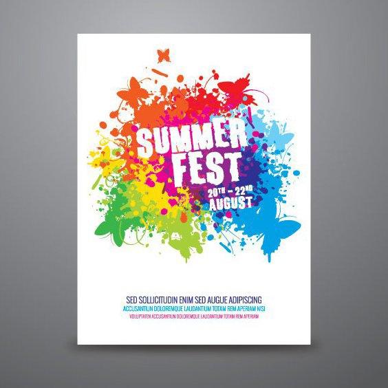 Cartel de Festival de verano - vector #206759 gratis