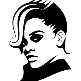 Rihanna Vector Illustration - vector gratuit #206849