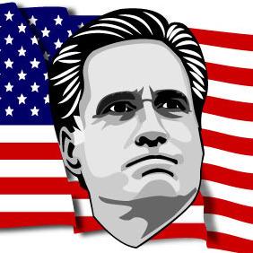 Mitt Romney Vector Portrait - Kostenloses vector #206859