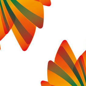 Abstract Orange Green Design - vector gratuit #207059