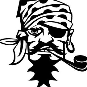 Pirate Smoking Pipe Vector - бесплатный vector #207089