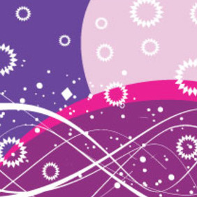 White Ornament In Blue Purple Background - vector #207219 gratis
