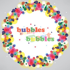 Bubbles Banner Design - Free vector #207359