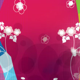 Wonderful White Flowers In Colored Vector - vector #207379 gratis