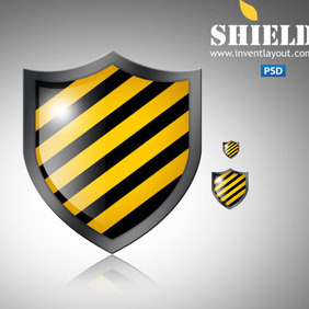 Shield Icon PSD - vector gratuit #207429