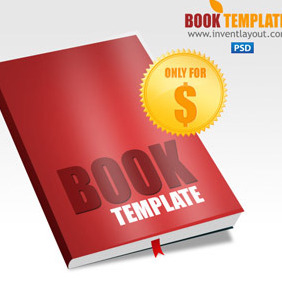 Book Template PSD - vector gratuit #207439