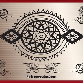 Oriental Decoration - Free vector #207589