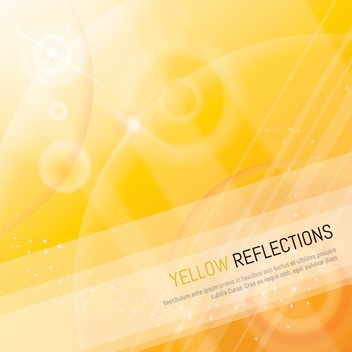 Yellow Reflections - vector gratuit #207609