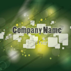 Green Compay Card Vector - Free vector #207629