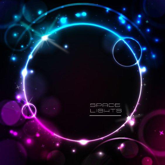Lumières de l'espace - vector gratuit #207719