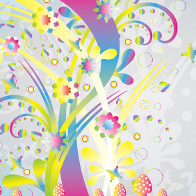 Abstract Colorful Nature Vector - Free vector #207729