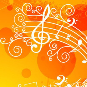 Abstract Musical Illustration - Kostenloses vector #207789