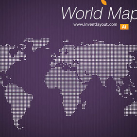 World Map Vector -1 - Free vector #207859