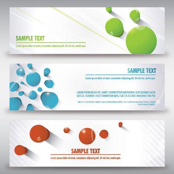 3D Spalte Banner - Kostenloses vector #208019