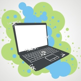 Grunge Laptop - vector gratuit #208109