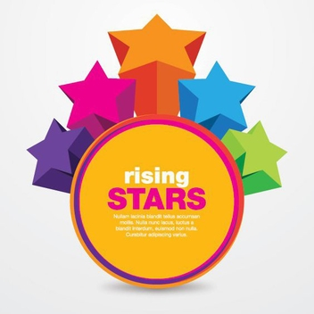 Rising Stars - vector #208119 gratis