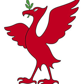 Liver Bird Red - Free vector #208209