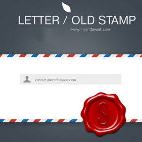 Letter And Old Stamp - Free vector #208279