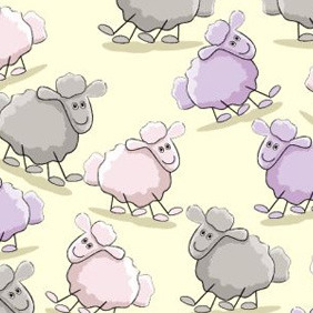 Sheep Pattern - Free vector #208319