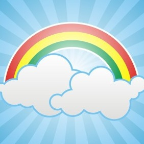 Background With Clouds - vector gratuit #208359