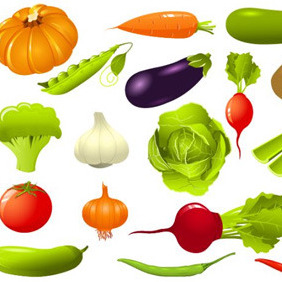 Vegetable Illustration Pack - vector #208449 gratis