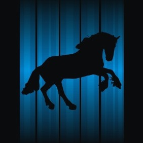Horse Silhouette - Free vector #208479