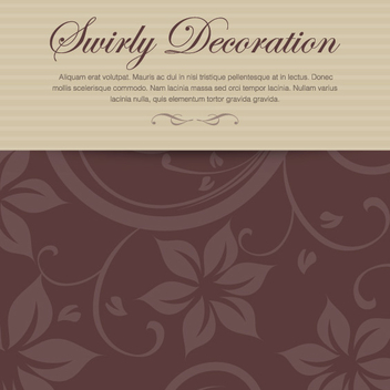 Swirly Decoration - vector gratuit #208489