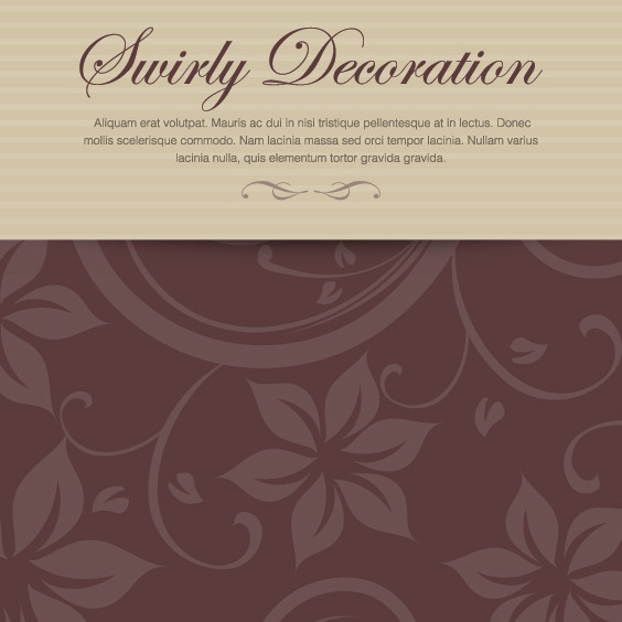 Swirly Dekoration - Free vector #208489