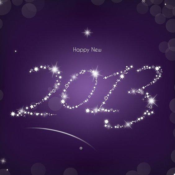 Estrellas de 2013 - vector #208509 gratis