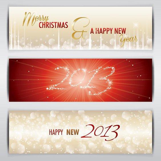 Banners de 2013 - vector #208519 gratis