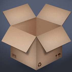 Cardboard Box - vector #208619 gratis